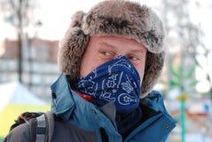 Mann im russischen Hut Lizenzfreie Stockfotos