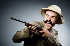 Mann im Safarihut Lizenzfreies Stockbild