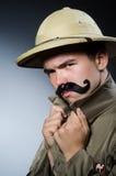 Mann im Safarihut Lizenzfreie Stockfotografie