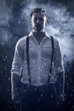 Mann im Schnee Stockbilder