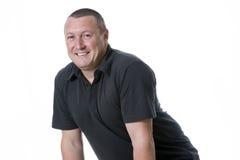 Mann im schwarzen Hemd Stockfoto