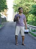 Mann im Urlaub in Japan 3 lizenzfreies stockbild