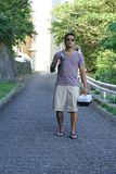 Mann im Urlaub in Japan 4 Lizenzfreie Stockfotografie