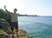Mann im Urlaub in Japan 10 lizenzfreie stockfotografie