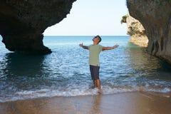Mann im Urlaub in Japan 11 stockbild