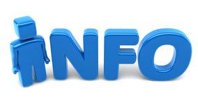 Mann Info-3D Lizenzfreies Stockfoto