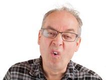 Mann ist über etwas hyperkritisch Lizenzfreies Stockfoto
