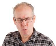 Mann ist über etwas nicht überzeugt Lizenzfreie Stockfotos