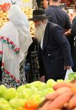 Mann am Jerusalem-Markt lizenzfreies stockbild