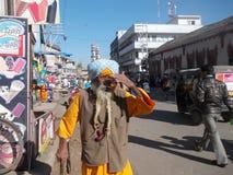Mann in Junagadh/in Indien Lizenzfreie Stockbilder