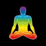 Mann-Körper-Seelen-Regenbogen-Schwarzes Stockbild