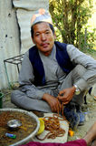 Mann in Katmandu, Nepal Stockfoto