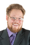 Mann lacht laut Lizenzfreies Stockbild