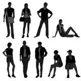 Mann-männliche Frauen-weibliches Art- und Weiseeinkaufen-Baumuster Stockfotografie