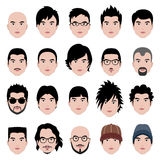 Mann-männliche Gesichts-Kopf-Haar-Frisur Lizenzfreies Stockbild