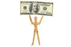 Mann mit 100 Dollarschein Lizenzfreie Stockfotografie