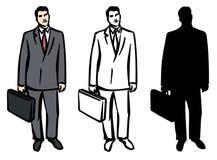 Mann mit Aktenkoffer. JPG und ENV Stockfotos