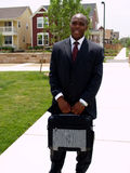 Mann mit Aktenmappe lizenzfreies stockbild
