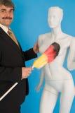 Mann mit Attrappe Lizenzfreies Stockfoto
