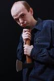 Mann mit Axt Stockfoto