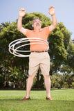 Mann mit Bändern Stockfoto