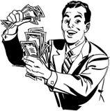 Mann mit Bargeld vektor abbildung