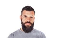 Mann mit Bart Stockfotografie