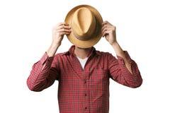 Mann mit bedecktem Gesicht Lizenzfreies Stockbild