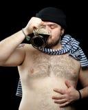 Mann mit Bier Stockbilder