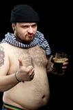 Mann mit Bier Lizenzfreies Stockfoto