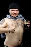 Mann mit Bier Lizenzfreies Stockbild