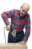 Mann mit Bohrgerät Lizenzfreie Stockfotografie