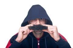 Mann mit dem großen Schnurrbart Stockbild
