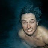 Mann mit den gefrorenen Haaren Lizenzfreies Stockbild