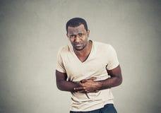 Mann mit den Magenschmerz Lizenzfreie Stockfotos