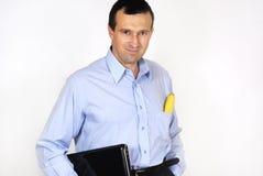 Mann mit der Laptop-Computer Lizenzfreie Stockfotografie