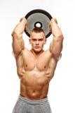 Mann mit der muskulösen Torsoaufstellung Lizenzfreie Stockfotos