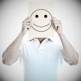 Mann mit einem glücklichen Gesicht Lizenzfreies Stockfoto
