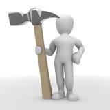 Mann mit einem Hammer lizenzfreie abbildung