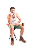 Mann mit einem Hammer Lizenzfreie Stockfotos