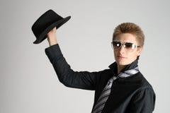 Mann mit einem Hut Stockfotos