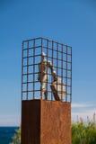 Mann mit einem Koffer; allgemeine Kunst Stockbilder