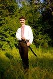 Mann mit einer Klinge lizenzfreie stockfotografie