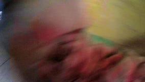 Mann mit einer Schrotflinte POV stock video