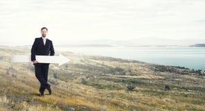 Mann mit Fahne Lizenzfreie Stockfotografie