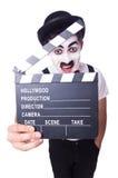 Mann mit Filmscharnierventil Stockfotografie