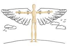 Mann mit Flügeln Stockfoto
