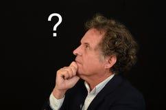Mann mit Frage Lizenzfreie Stockbilder