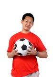 Mann mit Fußball Lizenzfreies Stockbild