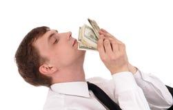 Mann mit Geld stockfotografie
